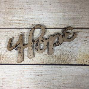 Knot & Kiln Woodburned HOPE Magnet | Handmade